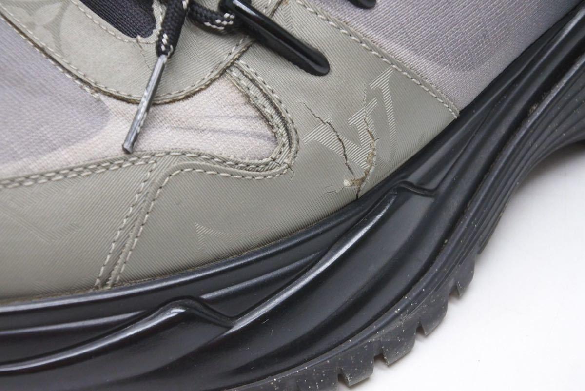 LOUIS VUITTON ルイヴィトン スニーカー シューズ 靴 ランアウェイパルスライン サイズ5 モノグラム ブラック 中古 32138 正規品_画像5