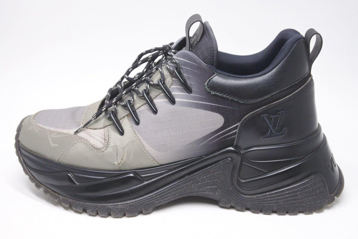 LOUIS VUITTON ルイヴィトン スニーカー シューズ 靴 ランアウェイパルスライン サイズ5 モノグラム ブラック 中古 32138 正規品_画像3