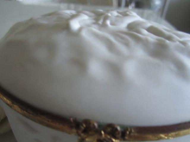 フランス製 アンティーク ヴィンテージ リモージュ ビスク エンジェル 天使 おリボン金具 小物入れ ジュエリーッボクスにも_画像8