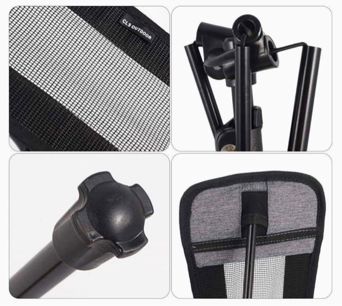 ヘリノックスに装着可能なフットレストオットマンHelinoxアウトドアチェア黒色