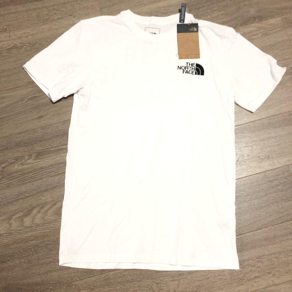 THE NORTH FACE タグ付き ザノースフェイス 半袖Tシャツ WHITE ノースフェイスTシャツ
