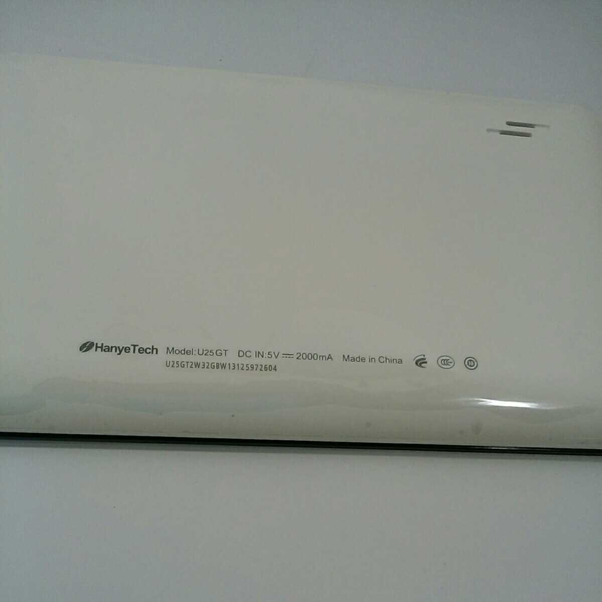 #J-17☆未使用品☆HanyeTechタブレット端末☆縦11.5cm横19cm 8インチ液晶画面 型番U25GTAndroid4.1.1 容量1Gブラック_画像3