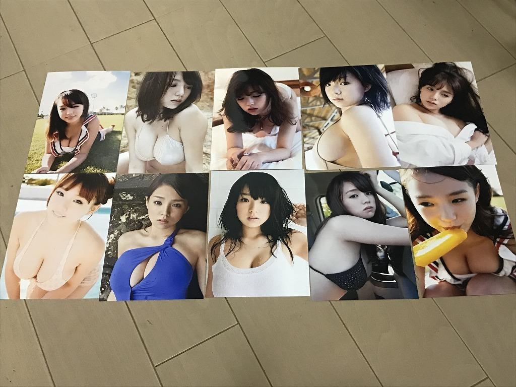 ★L版写真10枚 篠崎愛 グラビアアイドル 水着下着 1 B_画像1