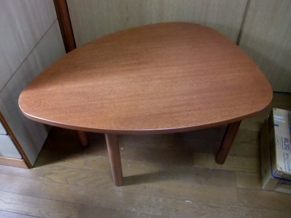 大塚家具★木製 変形 座卓/ちゃぶ台☆センターテーブル_画像1