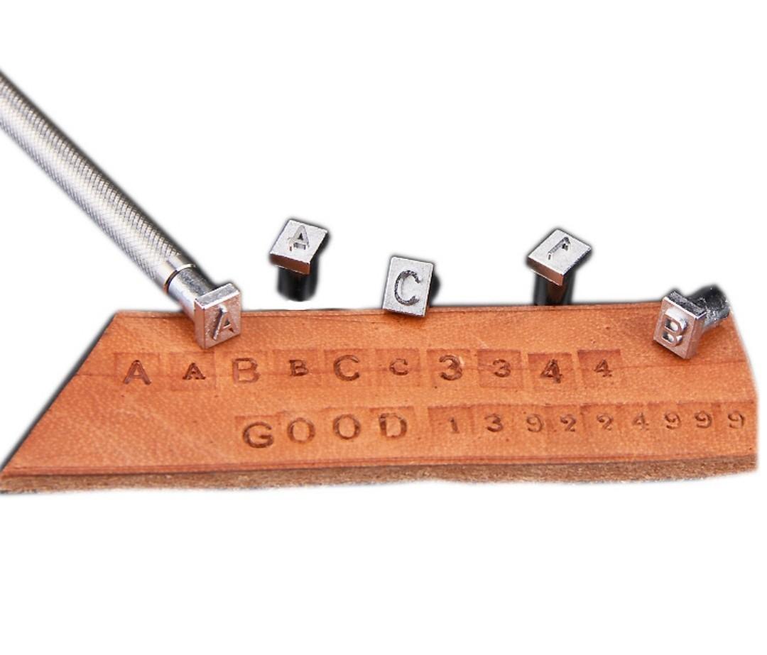 レザークラフト 刻印棒 アルファベット 数字 打ち棒 セット 3.5mm レザークラフト