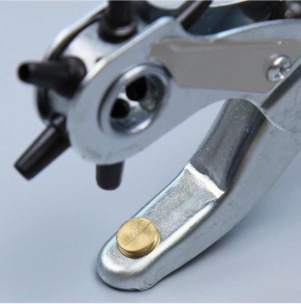 回転式 穴あけパンチ 6段サイズ レザークラフト レザーベルト