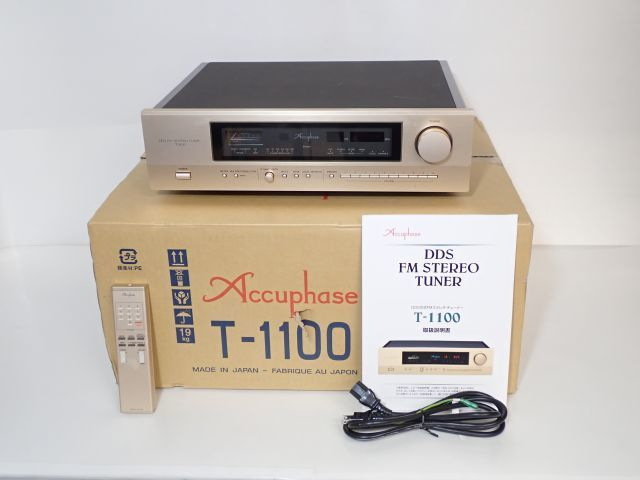 Accuphase アキュフェーズ ステレオFMチューナー T-1100 元箱付き ★ 61C5E-1