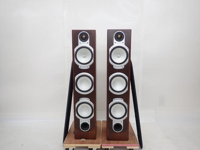【良品】 Monitor audio モニターオーディオ Silver-RS8 スピーカー ペア シリアル同番 スタンド/スパイク付 ∴ 61BA9-1
