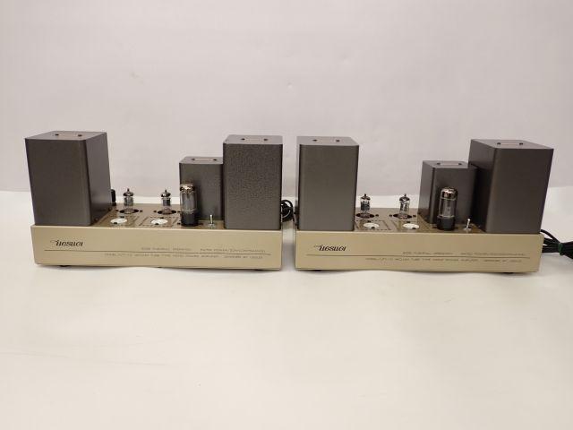 UESUGI/上杉研究所 真空管/管球式モノラルパワーアンプ UTY-10 ペア シリアル連番 ペア □ 61C51-11