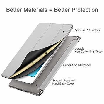 グレー ESR iPad Mini 5 2019 ケース 軽量 薄型 PU レザー スマート カバー 耐衝撃 傷防止 クリア ハ_画像7