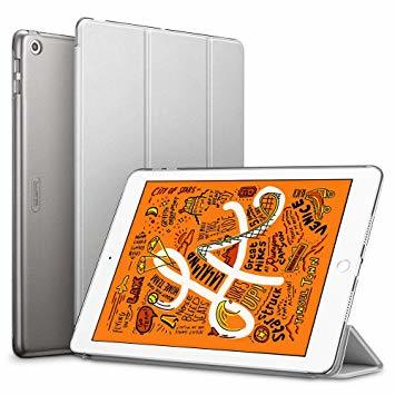 グレー ESR iPad Mini 5 2019 ケース 軽量 薄型 PU レザー スマート カバー 耐衝撃 傷防止 クリア ハ_画像1