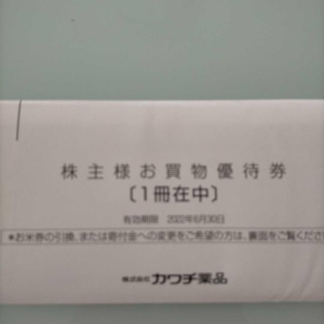カワチ薬品 株主様お買物優待券 5000円分(500円券×10枚)有効期限:2022年6月30日 送料込_画像1