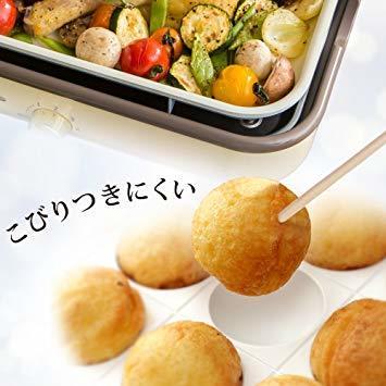 3)アッシュピンク アイリスオーヤマ ホットプレート 2WAY (たこ焼きプレート 平面プレート) ricopa アッシュピンク_画像4