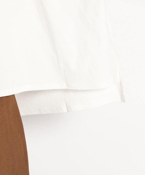 ニコアンド niko and... ゆるサラポンチョTシャツ ホワイト