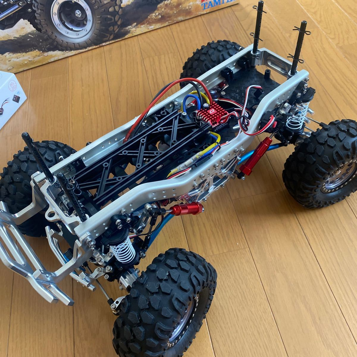 タミヤ CR-01 ウニモグ カスタム車両 4WS