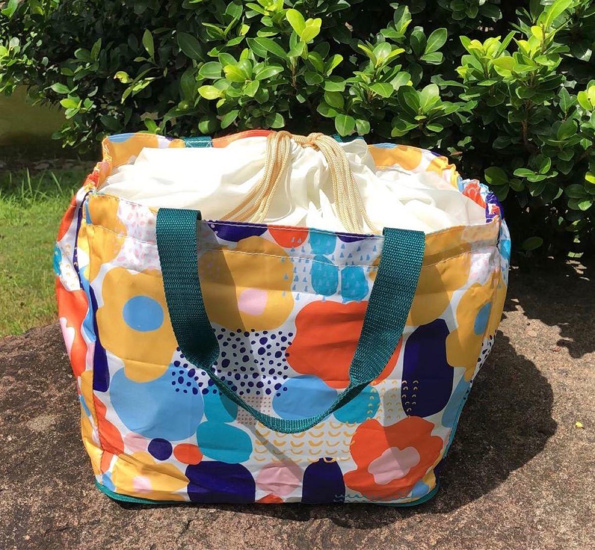 新品 保冷保温レジカゴバッグ 折りたたみエコバッグ 大容量コンビニ袋 レジかご