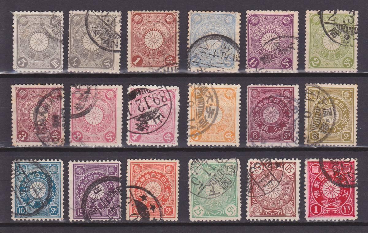 (1141)菊切手 18種(高額含まず) 使用済