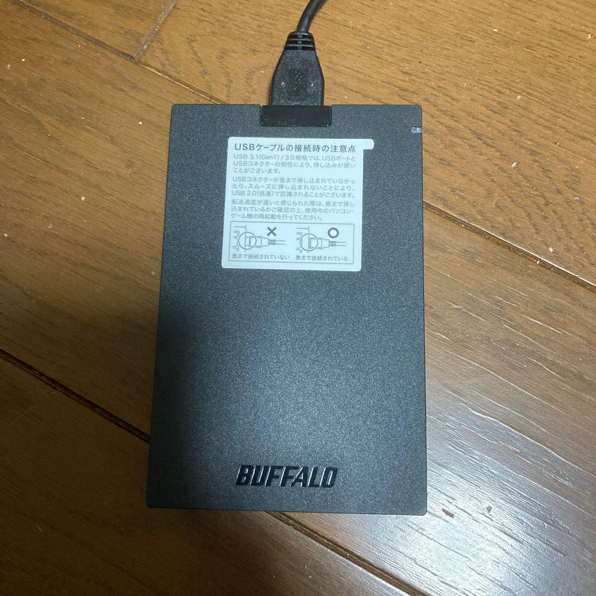 バッファロー USB3.1(Gen1)対応 外付けポータブルSSD 480GB(PlayStation4 動作確認済)