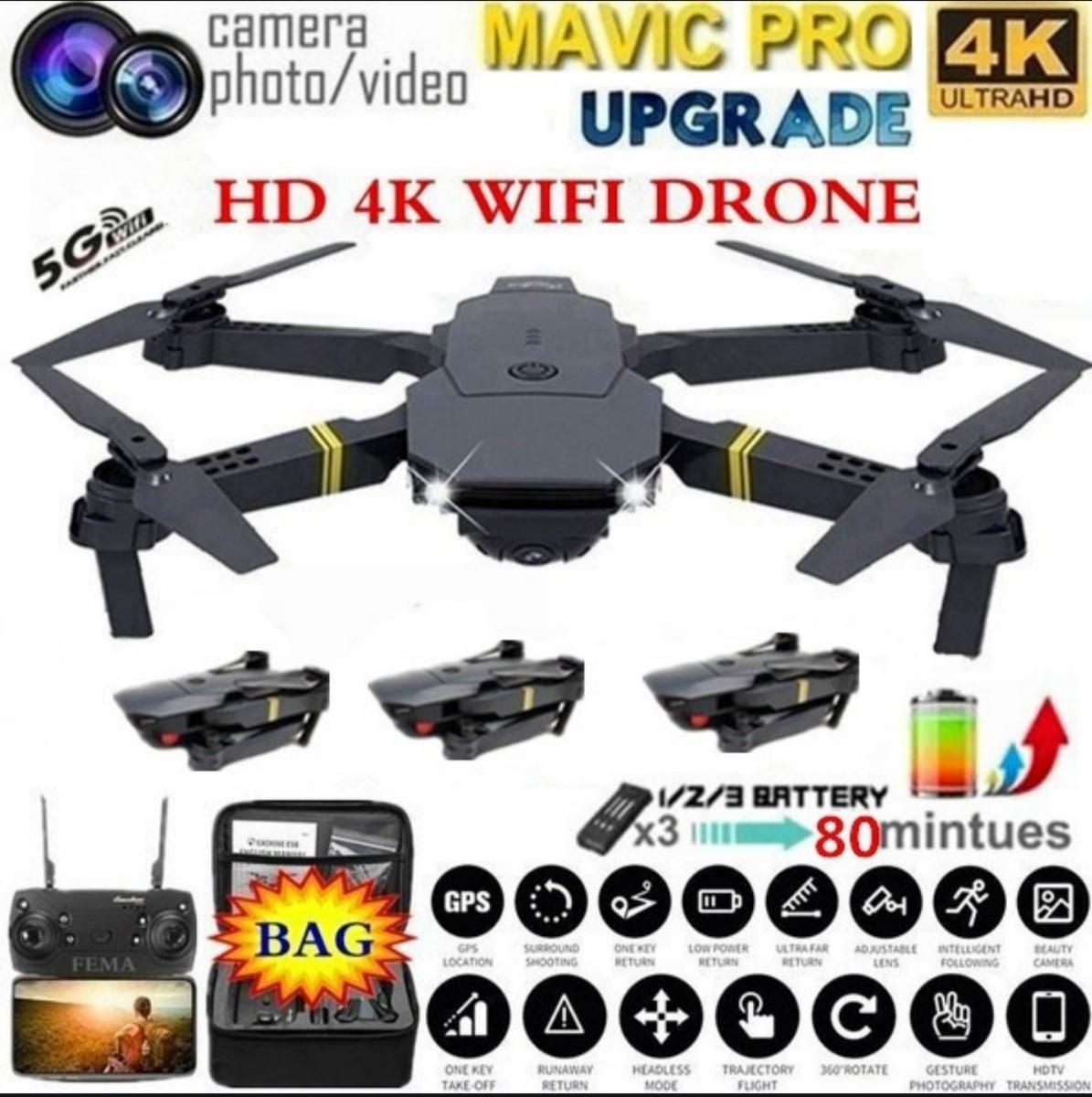ドローン Wi-Fi機能 高性能カメラ コントローラー付 4Kカメラ 一点限り ドローンカメラ付き WiFi