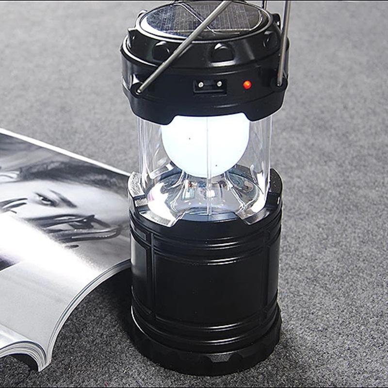 ソーラー充電対応 充電式 LEDランタン 懐中電灯 ソーラーパネル搭載 2in1給電方法 防災携帯式