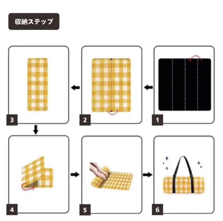 【大柄黒チェック】 レジャーシート 大判 厚手 200×150 アウトドア
