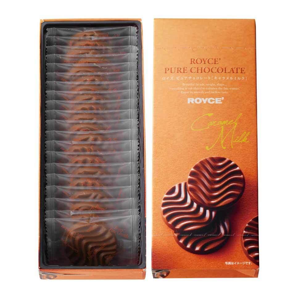 【送料無料】ロイズ 【北海道銘菓】 ピュアチョコレート[キャラメルミルク] 他北海道お土産多数出品中 ROYCE'_画像1