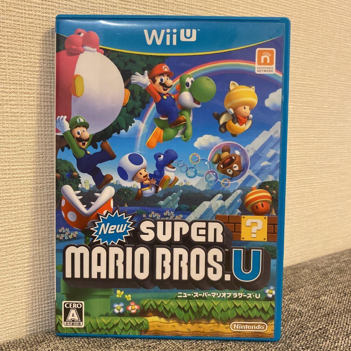 WiiUソフト マリオカート8、New スーパーマリオブラザーズ・U 2本セット 任天堂