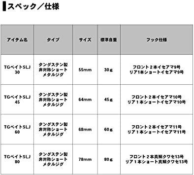 FPHグリーンゴールド 45g ダイワ(DAIWA) メタルジグ TGベイト SLJ フック付き ルアー_画像5