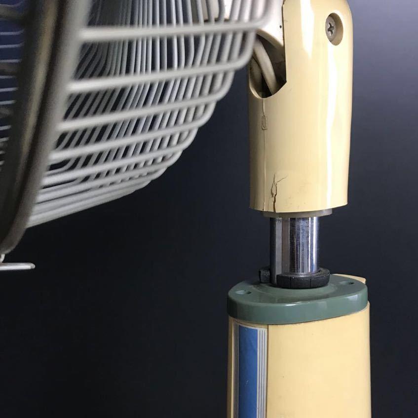 [J863] 金星社 30cm 座敷扇 扇風機 ブルー MF-30L 3枚羽 昭和レトロ アンティーク 古民家 シャビー 家電 動作確認済 難あり_画像10