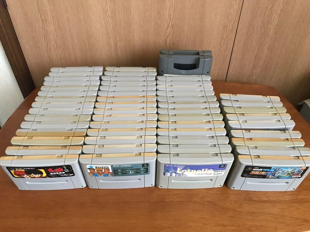 SFC スーパーファミコン カセット まとめて54本 スーパーマリオワールド ロックマンX ボンバーマン 他