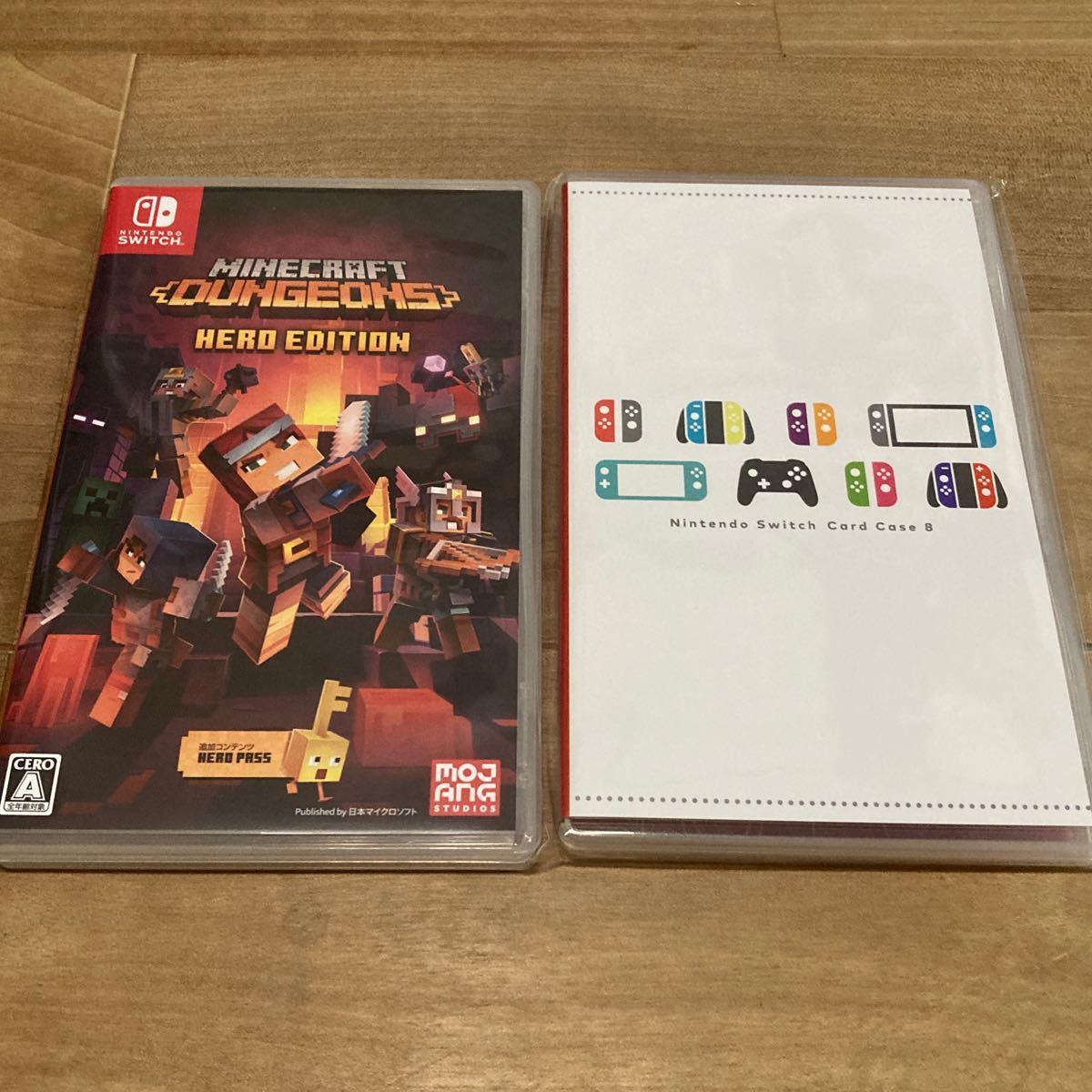 Switchソフト マインクラフトダンジョンズ Nintendo Switch Card ケース 8