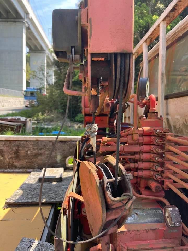 日産ニッサン ユニック付き 横向きクレーン付き ロングトラック 低走行距離約95000キロ_画像3