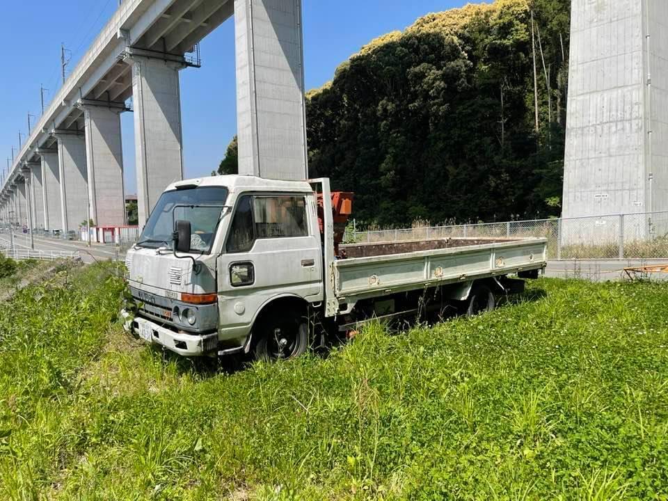日産ニッサン ユニック付き 横向きクレーン付き ロングトラック 低走行距離約95000キロ_画像2