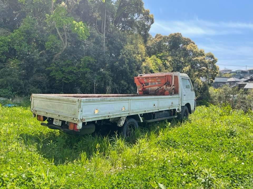 日産ニッサン ユニック付き 横向きクレーン付き ロングトラック 低走行距離約95000キロ_画像7