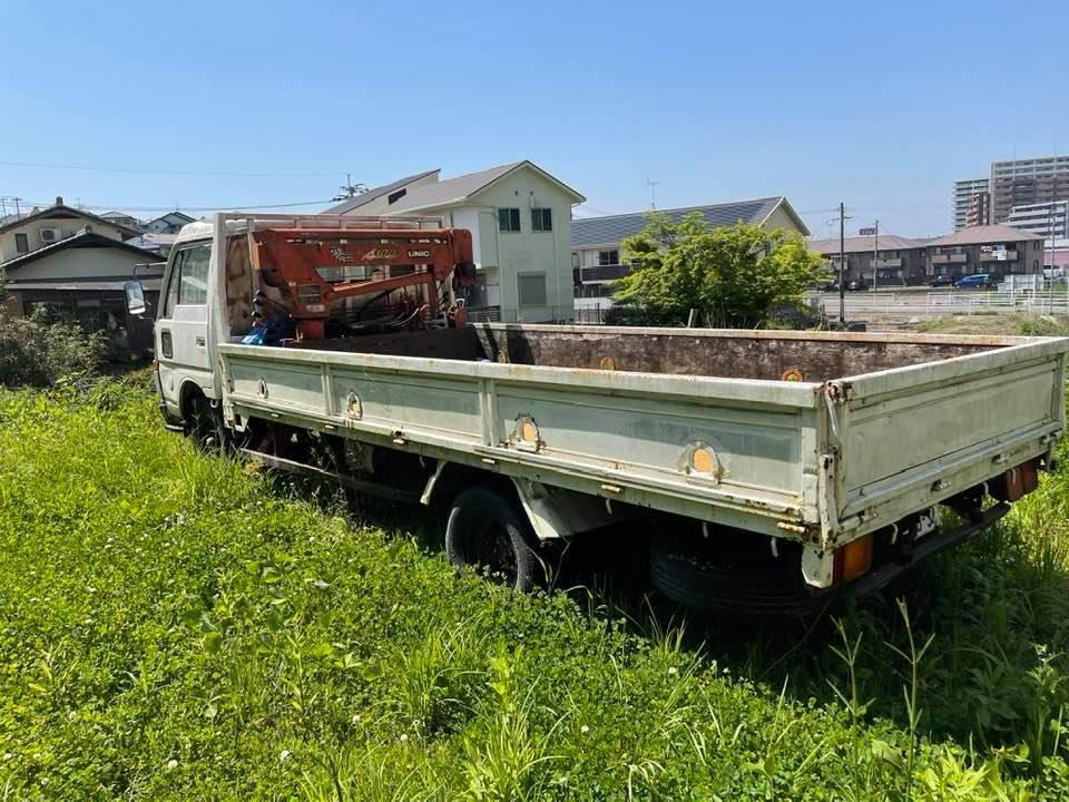 日産ニッサン ユニック付き 横向きクレーン付き ロングトラック 低走行距離約95000キロ_画像8