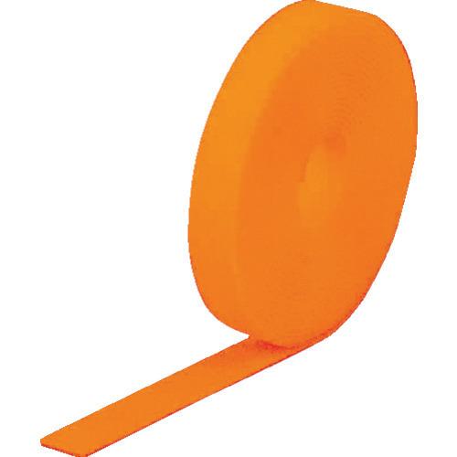 TRUSCO マジックバンド[[R下]]結束テープ両面蛍光オレンジ20mm25m [MKT20250LOR]_代表画像又はイメージ画像の場合があります