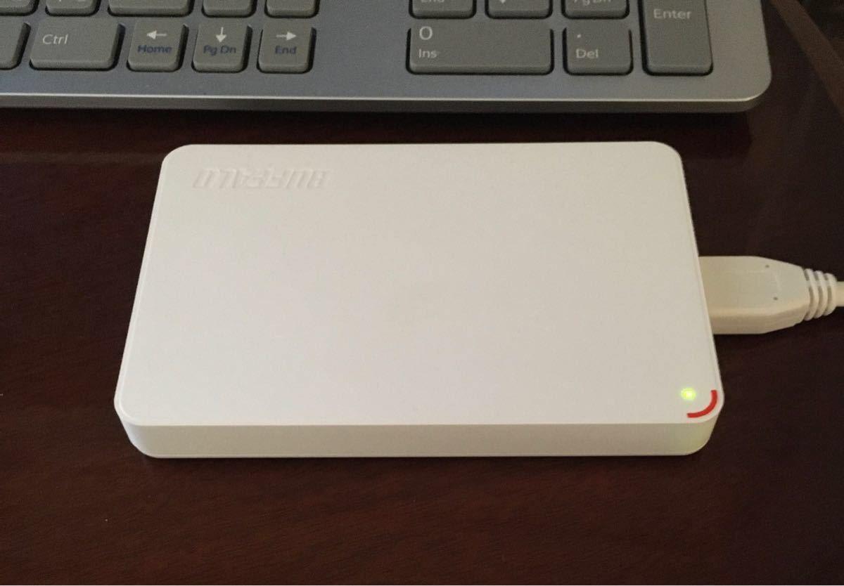 外付けハードディスク【BUFFALO】1TB 使用時間少なめです!