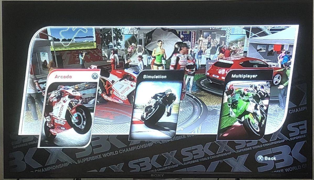 【動作確認画像有り】 海外版 PS3 SBK X SUPERBIKE WORLD CHAMPIONSHIP スーパー バイク ワールド チャンピオンシップ プレステ3 カセット