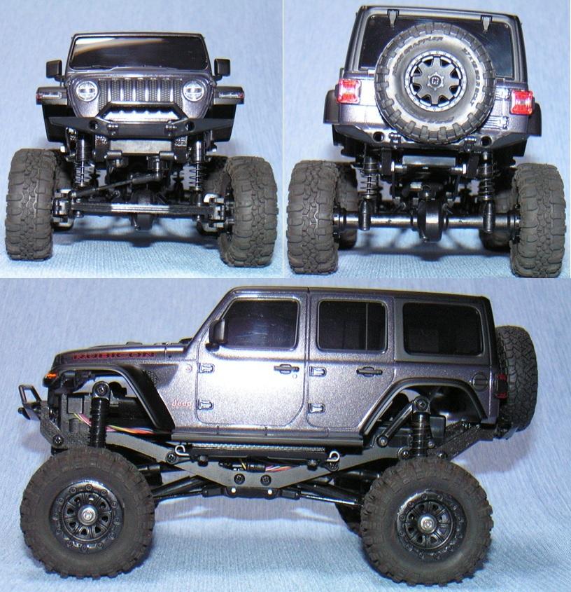 ミニッツ 4×4 ジープラングラー用 金属製変換ハブ+RGTタイヤ灰+ボディ10mmリフトアップ 京商 Kyosho Mini Z 4x4 Jeep Wrangler
