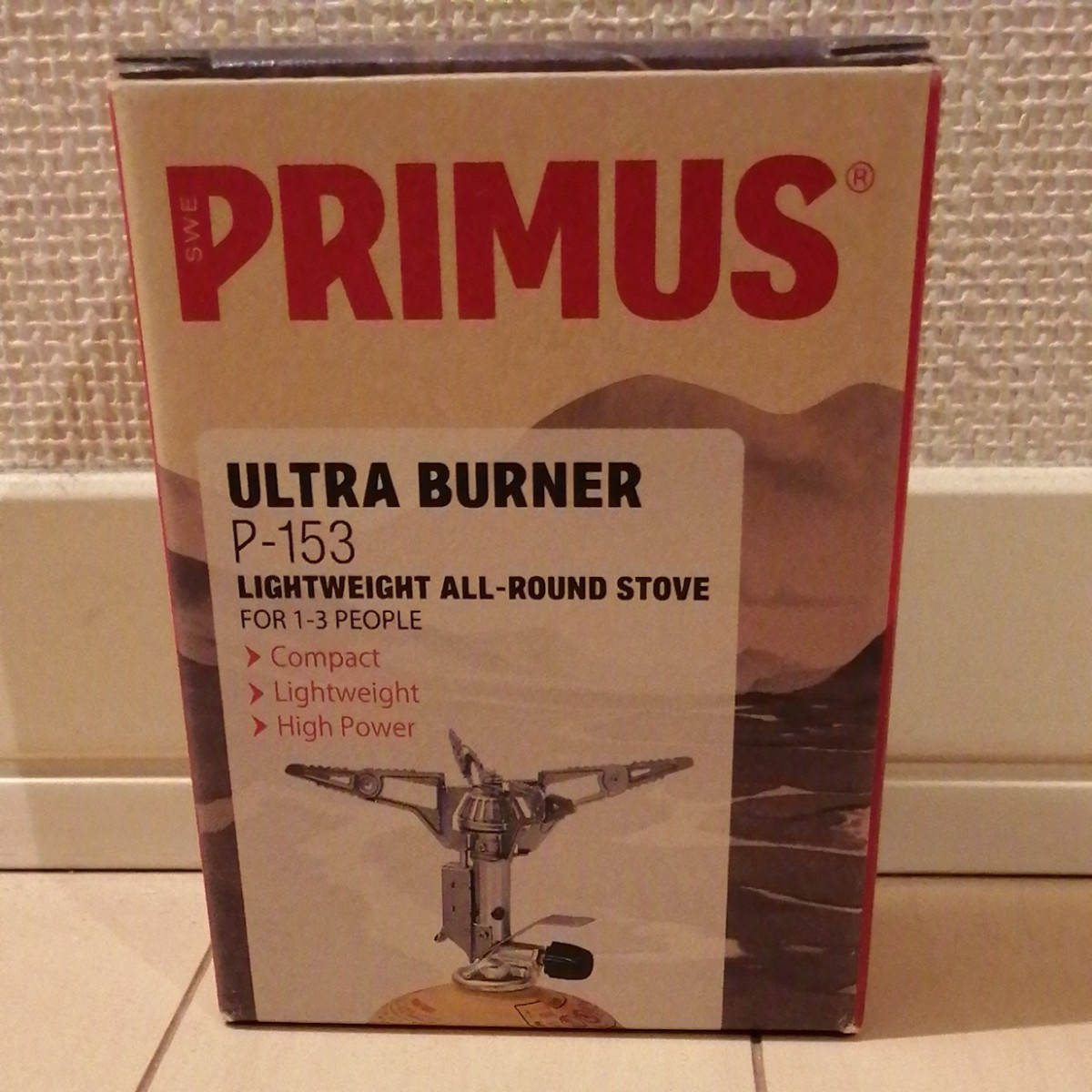 【新品未使用】primus プリムス 153ウルトラバーナー P-153 シングルバーナーコンロ アウトドア 釣り キャンプ