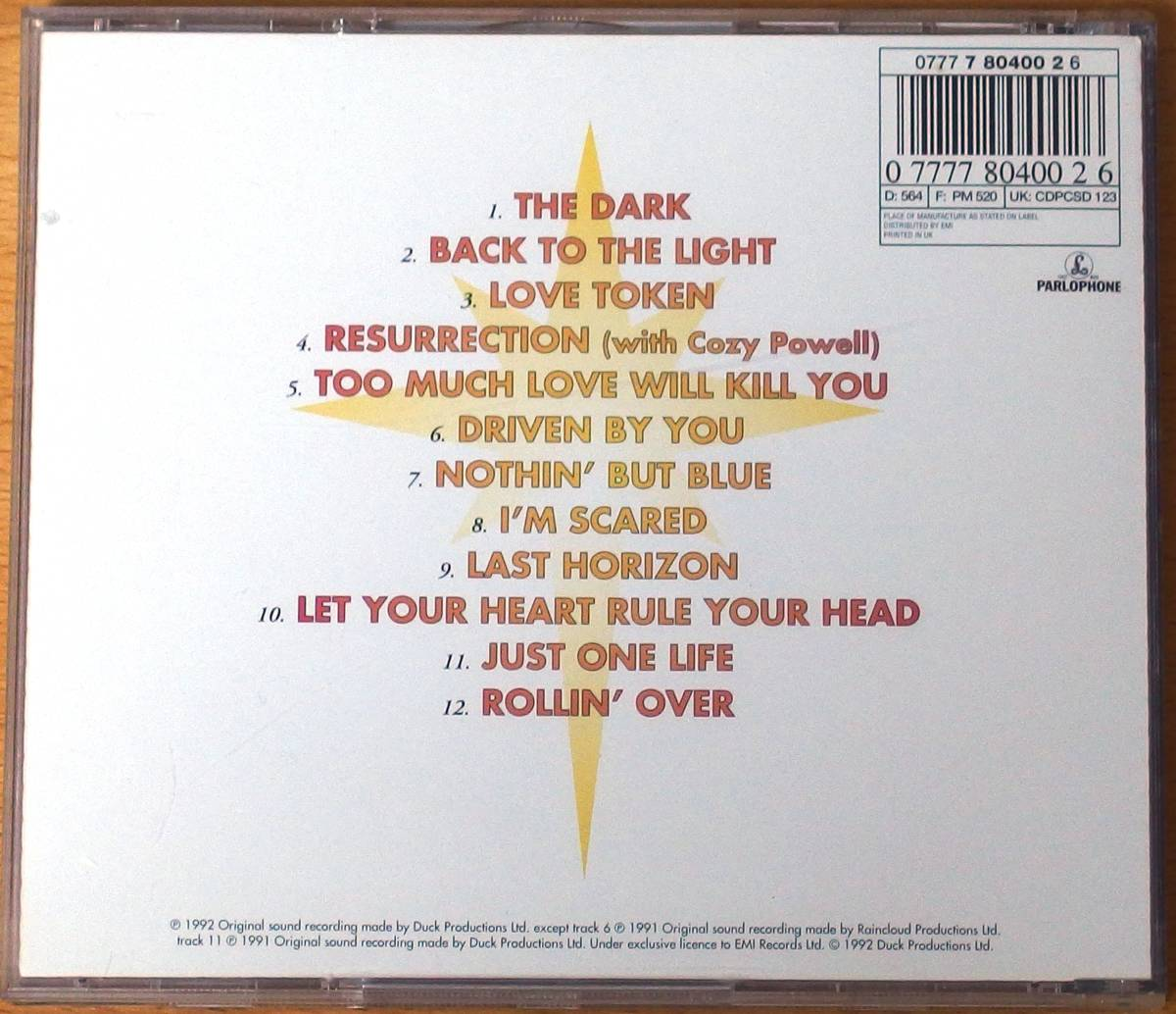 Brian May Back to the Light 輸入盤中古CD ブライアン・メイ Cozy Powell参加