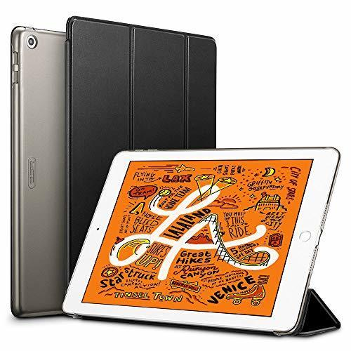 新品ブラック ESR iPad Mini 5 2019 ケース 軽量 薄型 PU レザー スマート カバー 耐衝撃 AF3I_画像1