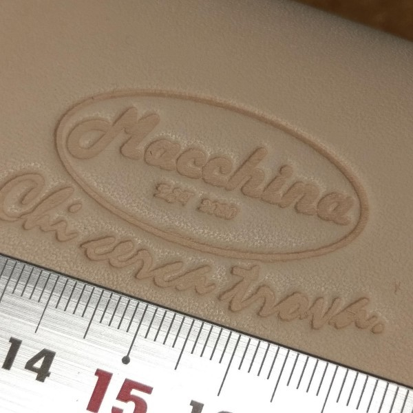 レザークラフト用 自作刻印 レタープレス 紫外線硬化樹脂版 刻印に! 送料込_ヌメ革に奇麗な刻印ができます。