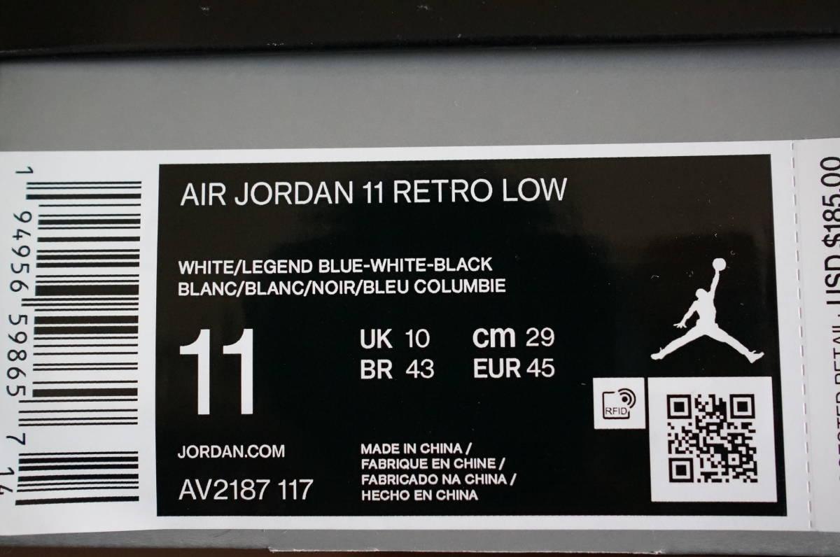 ★【新品】【国内定価以下より】AIR JORDAN 11 RETRO LOW 'LEGEND BLUE' 11.0(29.0cm)_画像4