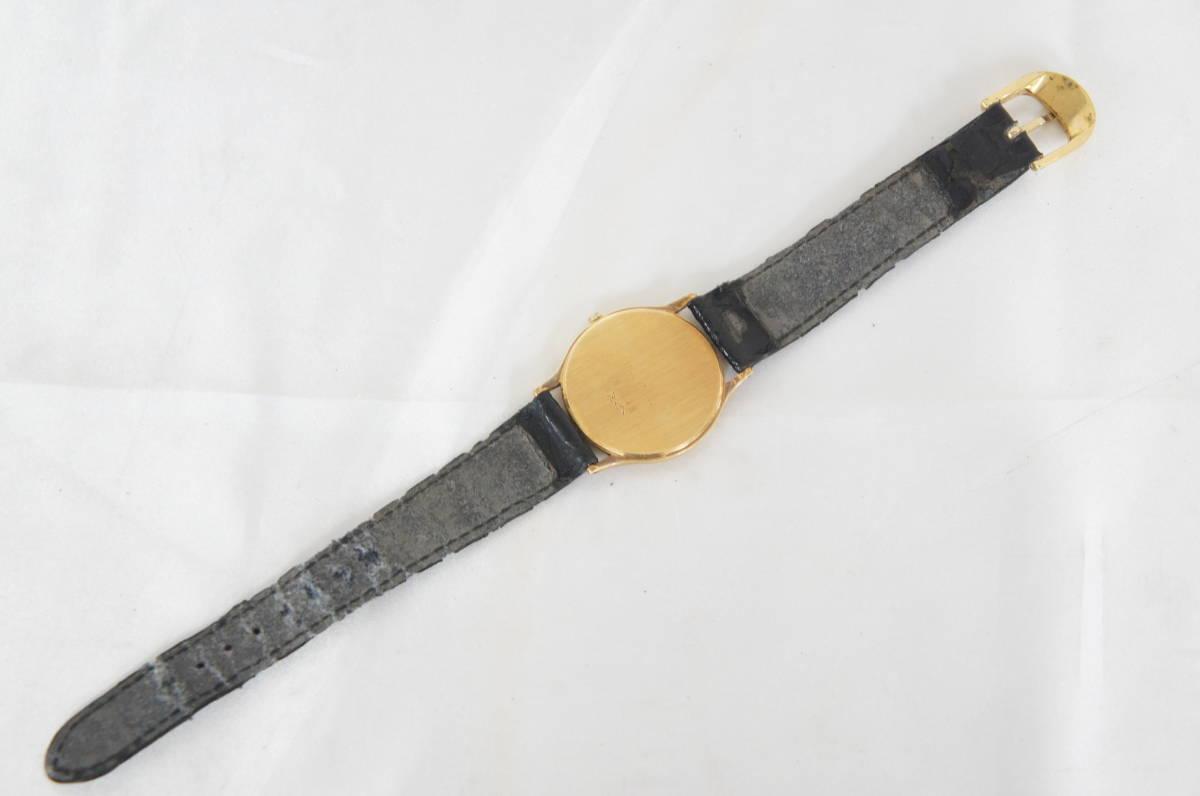 電池交換済 稼働品 mon chere モンシェル MC-001M 750 刻印 12Pダイヤ 総重量:約23.4g ボーイズ クォーツ 腕時計 07N919_画像8