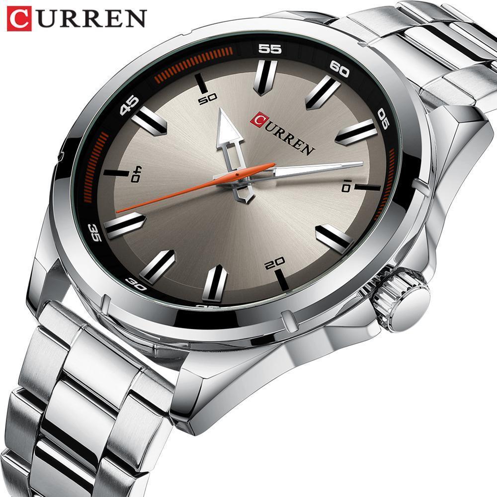 【中古売ります】【最安値に挑戦】カレンステンレス鋼メンズ腕時計シンプルなクォーツ腕時計ミリタリー軍時計男性レロジオのmasculino_画像2
