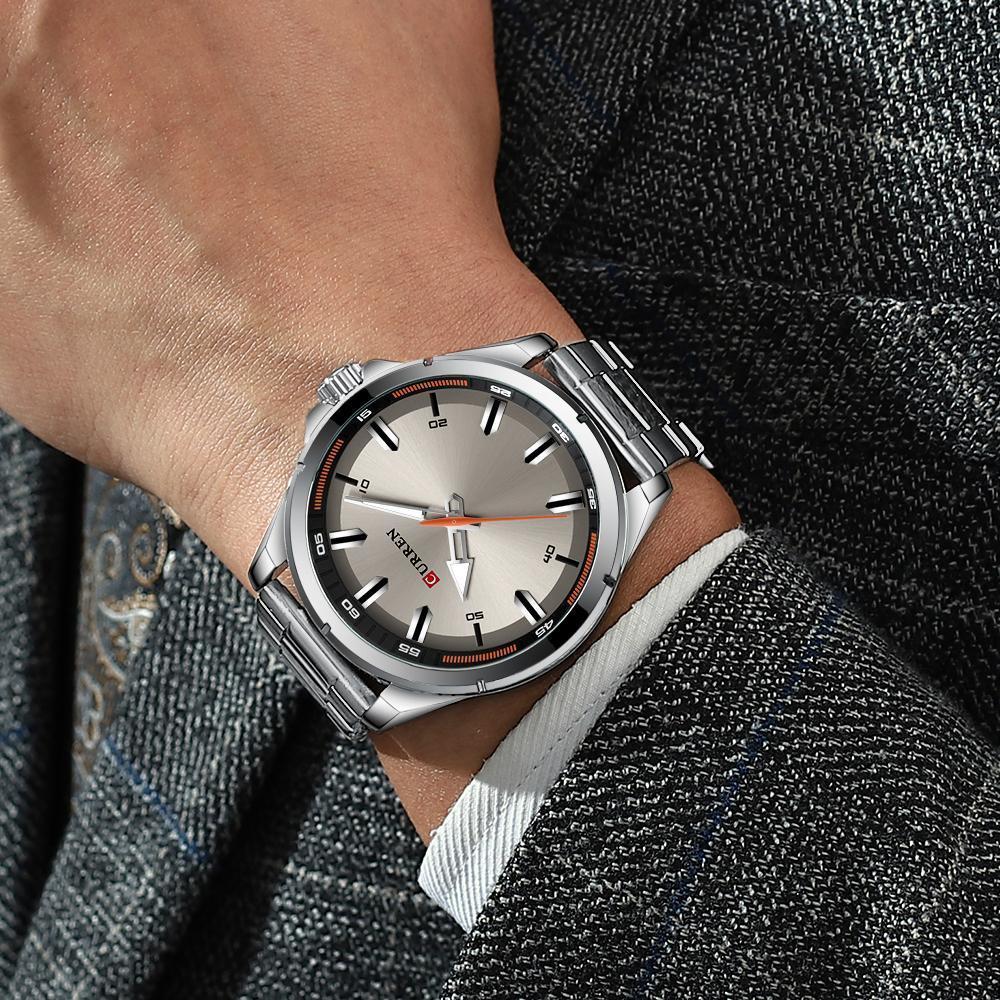 【中古売ります】【最安値に挑戦】カレンステンレス鋼メンズ腕時計シンプルなクォーツ腕時計ミリタリー軍時計男性レロジオのmasculino_画像4
