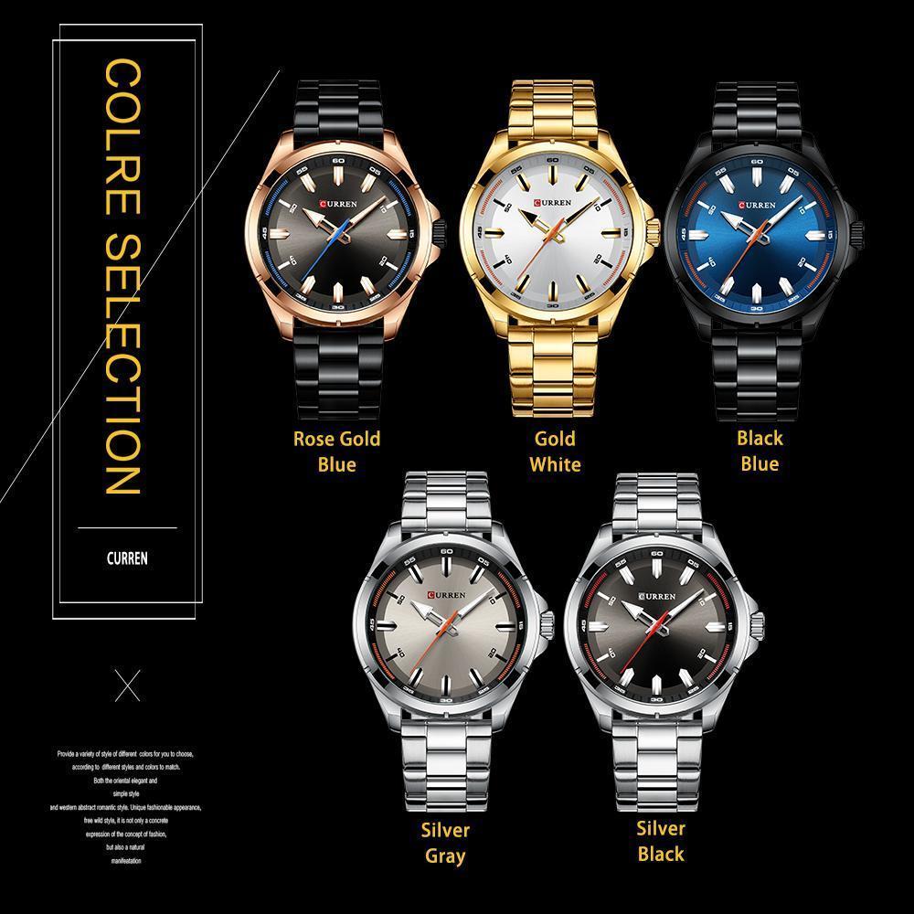 【中古売ります】【最安値に挑戦】カレンステンレス鋼メンズ腕時計シンプルなクォーツ腕時計ミリタリー軍時計男性レロジオのmasculino_画像5