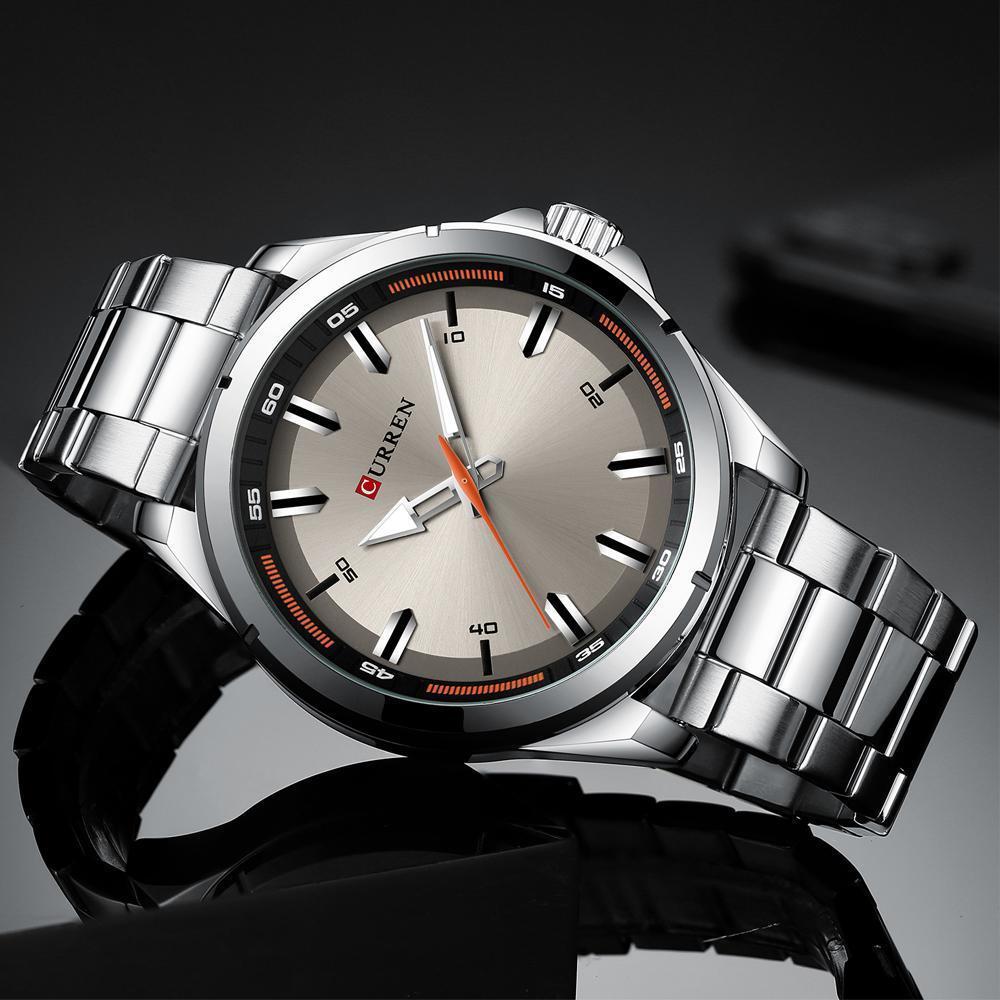 【中古売ります】【最安値に挑戦】カレンステンレス鋼メンズ腕時計シンプルなクォーツ腕時計ミリタリー軍時計男性レロジオのmasculino_画像3