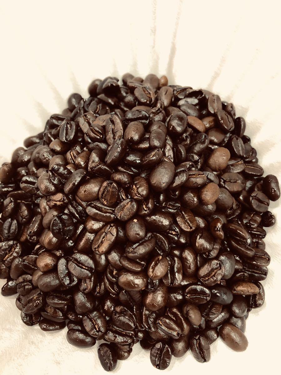 アイスカフェ・ラテ用 フレンチローストコーヒー豆 100g×2袋 オーダー焙煎珈琲豆 送料無料 お試し用_画像1